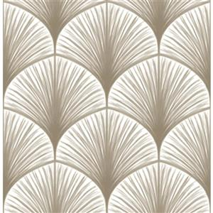 A-Street Prints Taupe Dusk Non-Woven Paste The Wall Frond Wallpaper