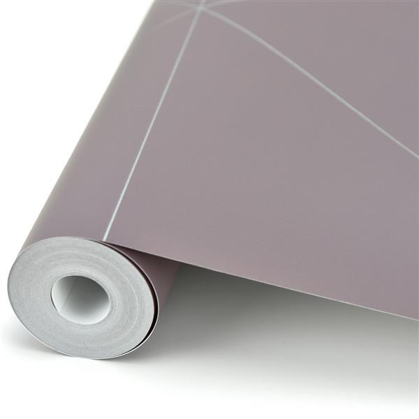 Papier peint géométrique crépuscule, mauve