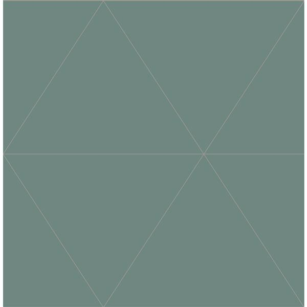A-Street Prints Green Geometric Non-Woven Paste The Wall Twilight Wallpaper