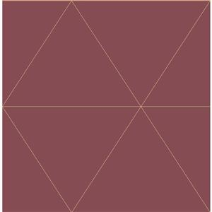 A-Street Prints Red Geometric Non-Woven Paste The Wall Twilight Wallpaper