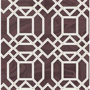 Papier peint trellis Daphne, marron