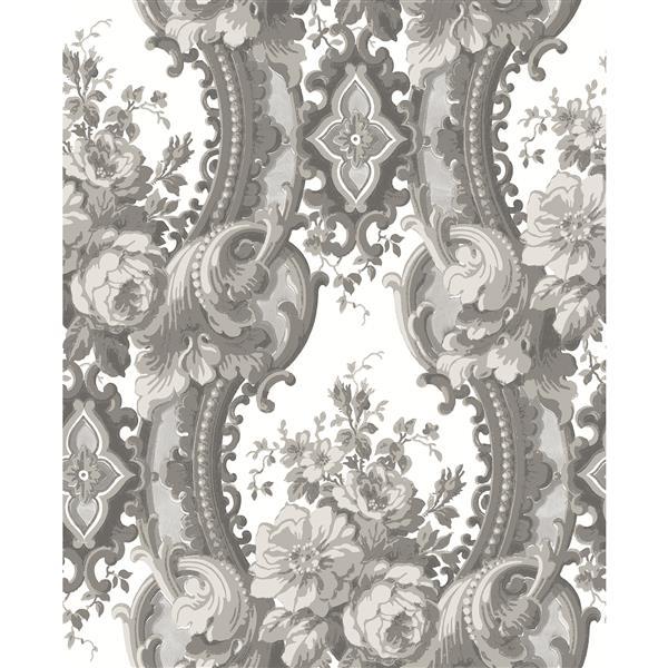 A-Street Prints Grey Damask Non-Woven Paste The Wall Dreamer Wallpaper