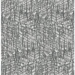 A-Street Prints Shimmer Abstract Textured Grey 56.40sq-ft Unpasted Wallpaper