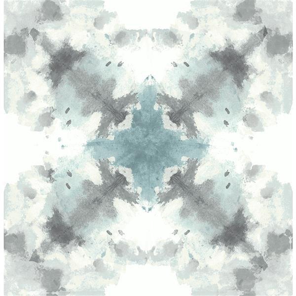Papier peint abstrait mystérieux, bleu sarcelle