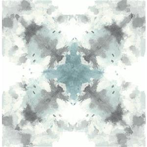 A-Street Prints Teal Mysterious Abstract Non-Woven Unpasted Wallpaper
