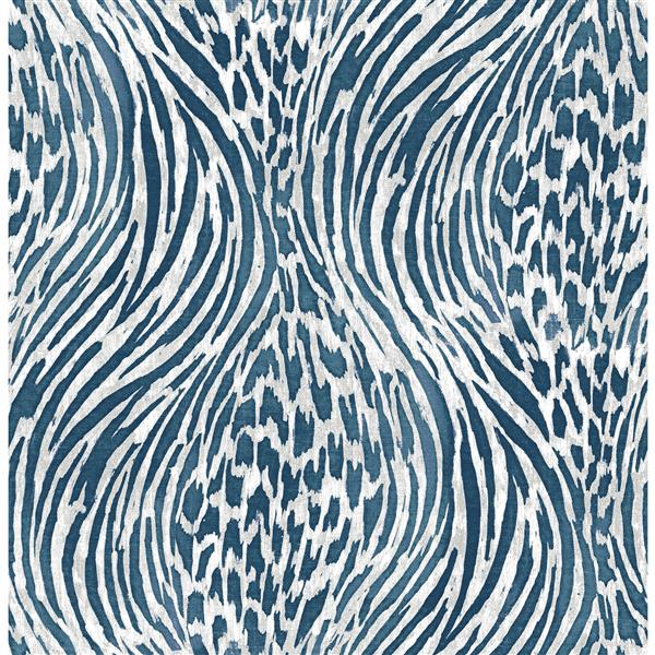 A-Street Prints Splendid Animal Print Blue 56.40sq-ft Unpasted Wallpaper