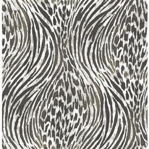 A-Street Prints Splendid Animal Print Platinum 56.40sq-ft Unpasted Wallpaper