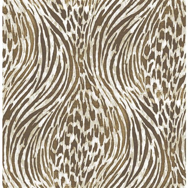 Superbe papier peint à imprimé animal, marron