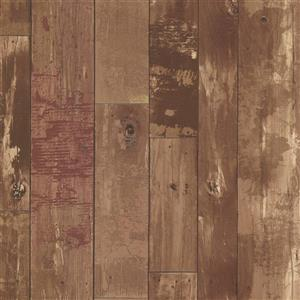 Brewster Wallcovering Heim Brown Distressed Wood Panel Unpasted Wallpaper