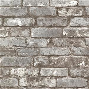 Brewster Wallcovering Brickwork Pewter Exposed Brick Paste The Wall Wallpaper