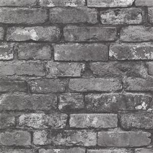Brewster Wallcovering Brickwork Slate Exposed Brick Paste The Wall Wallpaper