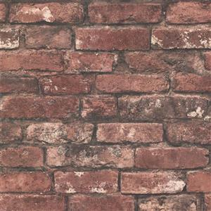 Brewster Wallcovering Brickwork Rust Exposed Brick Paste The Wall Wallpaper