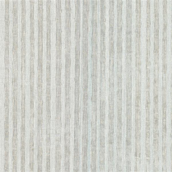 Papier peint à rayures Pemberly, gris