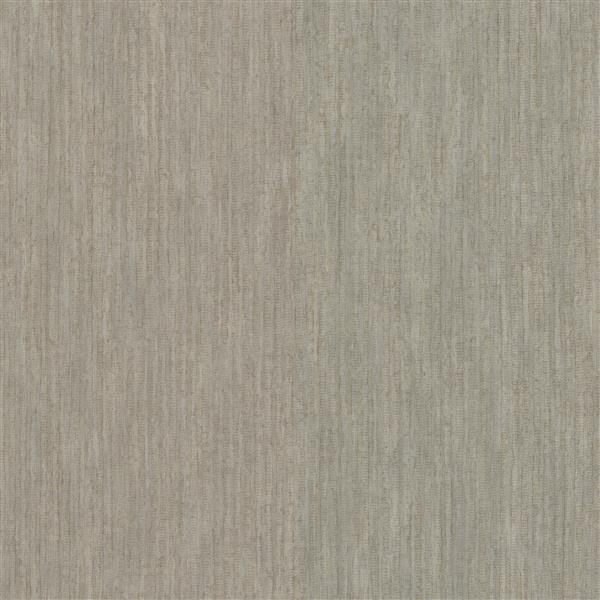 Papier peint Sixtine Texture rayee, tauupe