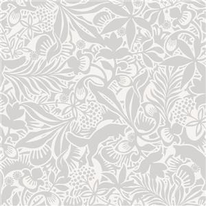 Brewster Wallcovering Grey Lummig Fox Wallpaper 21-in