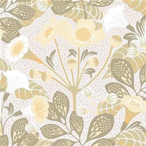 Brewster Wallcovering Tropisk Floral Wallpaper - Green