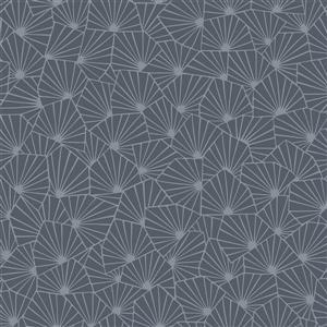 Papier peint géométrique Blomma, charbon