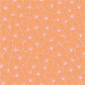 Brewster Wallcovering Blomma Orange Geometric Paste The Wall Wallpaper