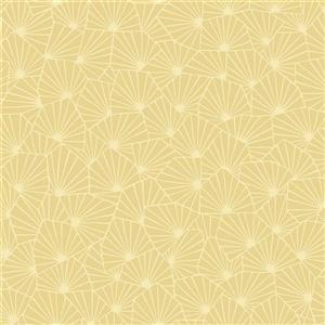 Blomma Geometric Wallpaper - Yellow