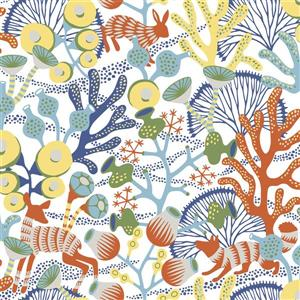 Brewster Wallcovering Multi-Color Korall Meadow Wallpaper