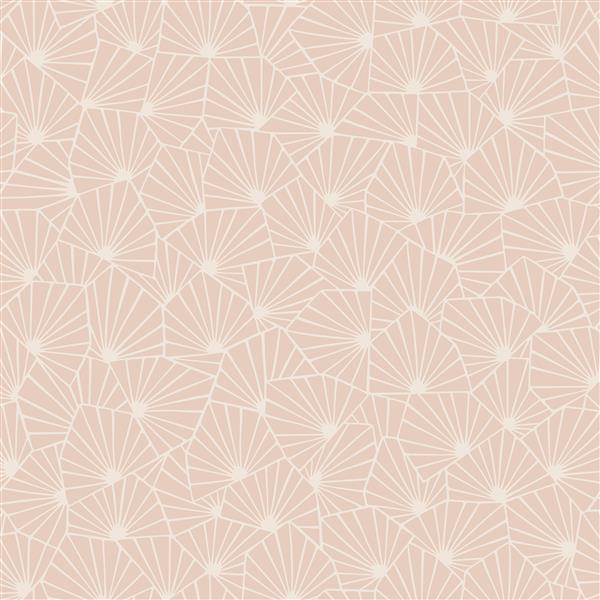 Brewster Wallcovering Apricot Blomma Geometric Paste The Wall  Wallpaper