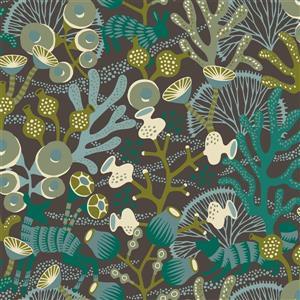 Brewster Wallcovering Green Korall Meadow Wallpaper
