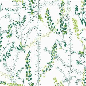 Papier peint Bladranker Botanique, vert