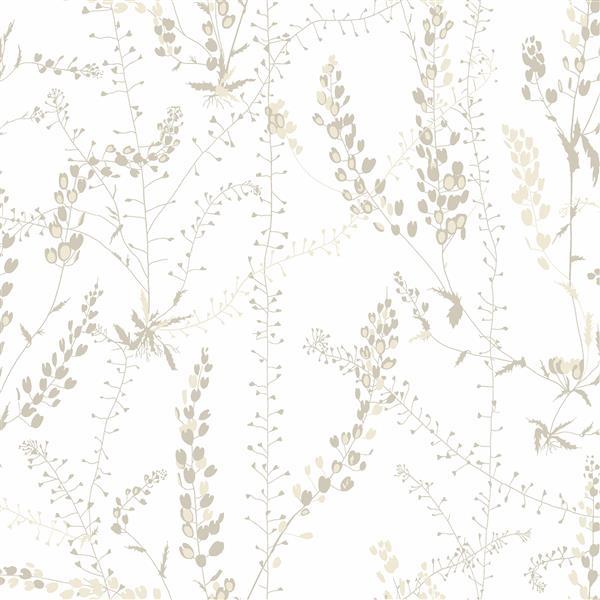 Papier peint Bladranker Botanique, beige