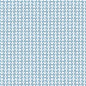 Papier peint géométrique Arne, bleu