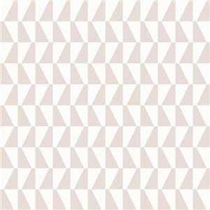 Papier peint géométrique Trapeze, rose