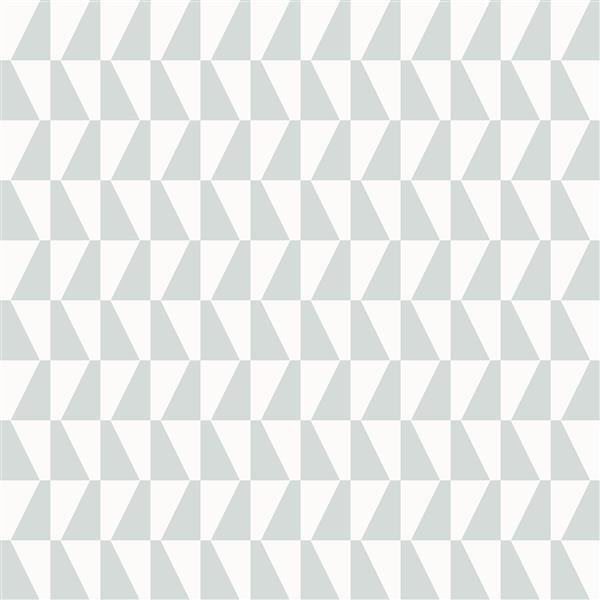 Papier peint géométrique Trapeze, sage
