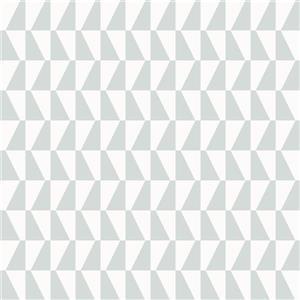 Trapez Geometric Wallpaper - Sage