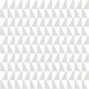 Papier peint géométrique Trapeze, gris