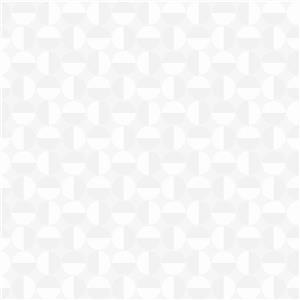 Papier peint géométrique vertige, blanc