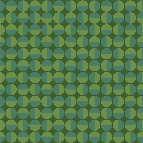 Papier peint géométrique vertige, vert