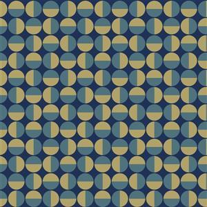 Papier peint géométrique vertige, bleu sarcelle