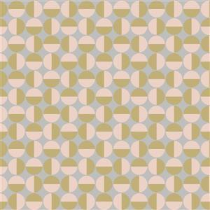 Papier peint géométrique vertige, rose