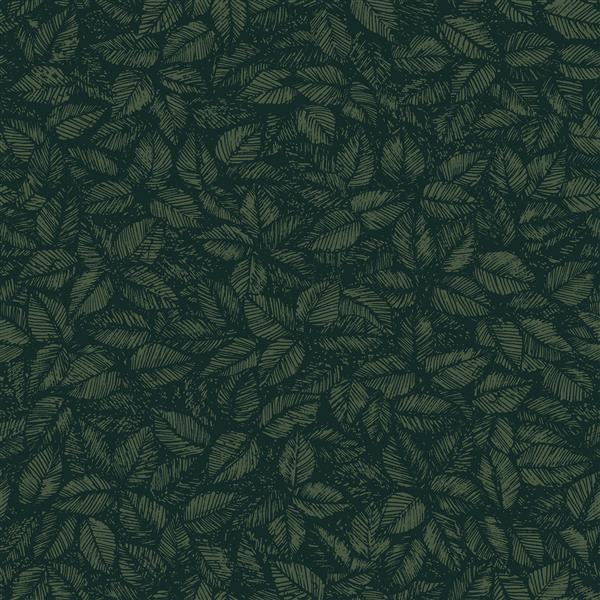 Brewster Wallcovering 57 sq ft Green Amorina Leaf  Wallpaper