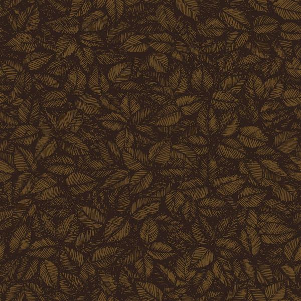 Papier peint Amorina feuille, brown