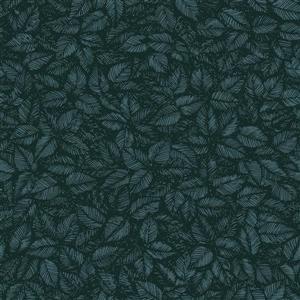 Papier peint feuille Amorina, bleu sarcelle