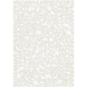 Papier peint feuille Romaine, beige