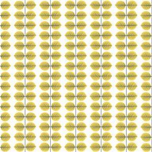 Papier peint feuille Bersa, jaune