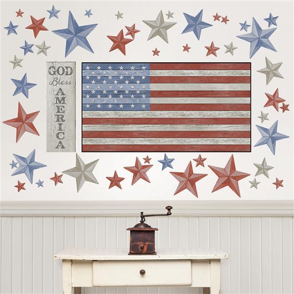 WallPops Land Of The Free Wall Art Kit
