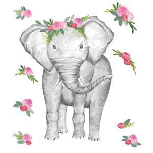 Trousse d'art mural Penelope l'éléphant, WallPops