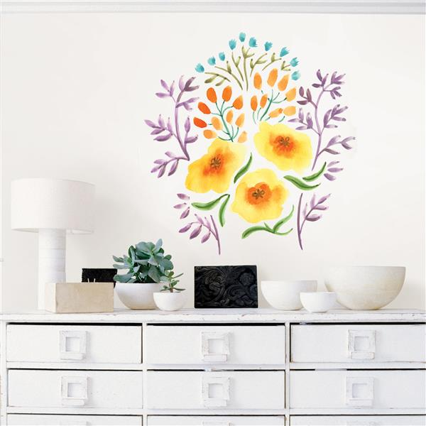 Trousse d'art mural bouquet, WallPops