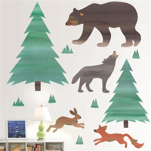 Trousse d'art mural appelant de la nature, WallPops