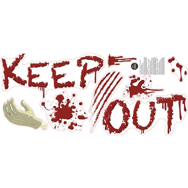 Trousse d'appliqué mural autocollant Zombies, WallPops