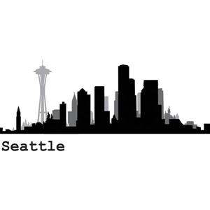 Seattle Cityscape Wall Art Kit