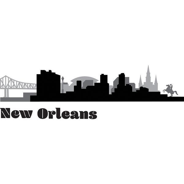 Trousse d'art mural de paysage urbain de la Nouvelle-Orléans, WallPops