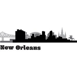 New Orleans Cityscape Wall Art Kit
